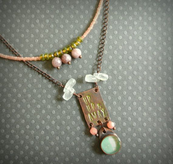 $72 up up and away necklace by jadescott on Etsy