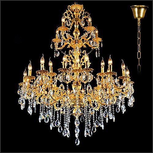 Gold large crystal chandelier lamp crystal lustre light f http cheap lamp post light fixtures buy quality lamp laptop directly from china lamp rgb suppliers luxurious gold large crystal chandelier lamp crystal lustre aloadofball Choice Image