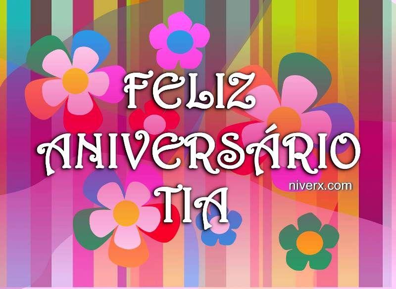 Feliz Aniversário Para Tia: Feliz-aniversário-para-tia-querida-celular-whatsapp
