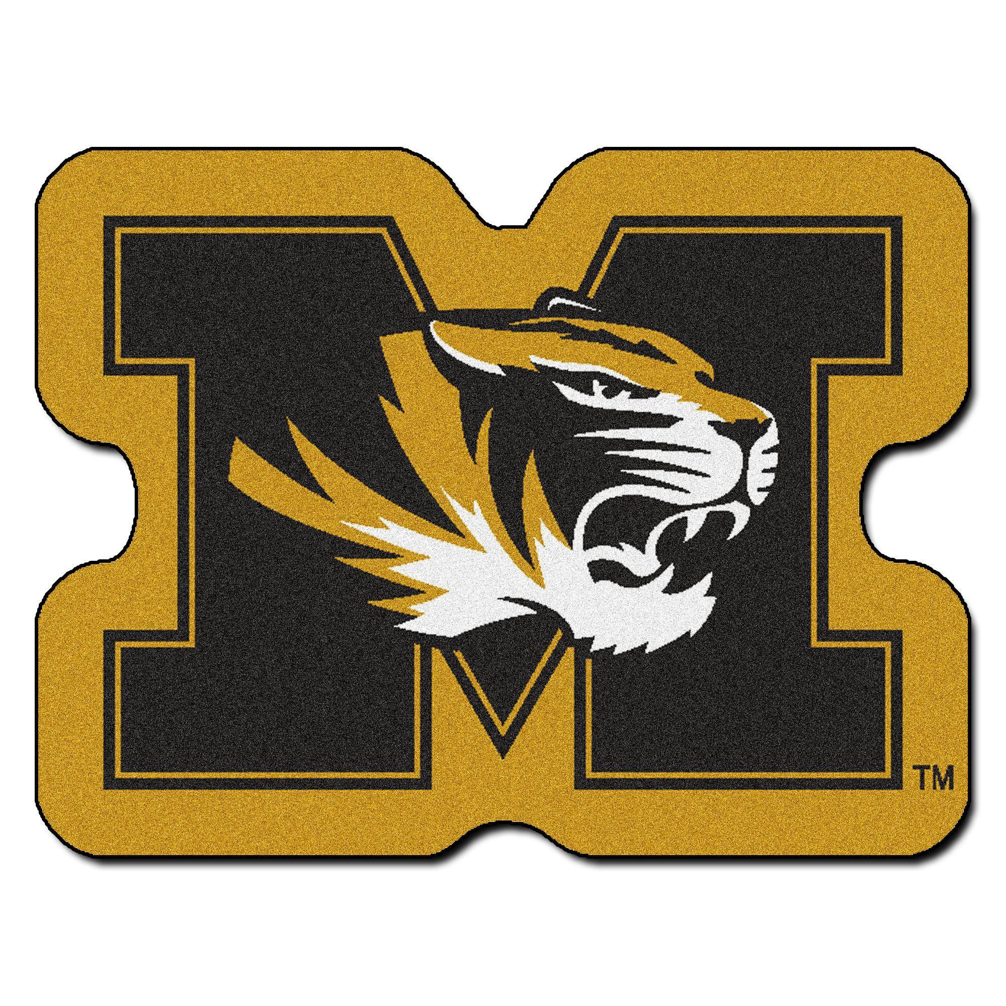 Ncaa University Of Missouri Mascot 40 In X 30 In Non Slip Indoor Only Mat Missouri Tigers Logo Missouri Tigers Mizzou Tigers