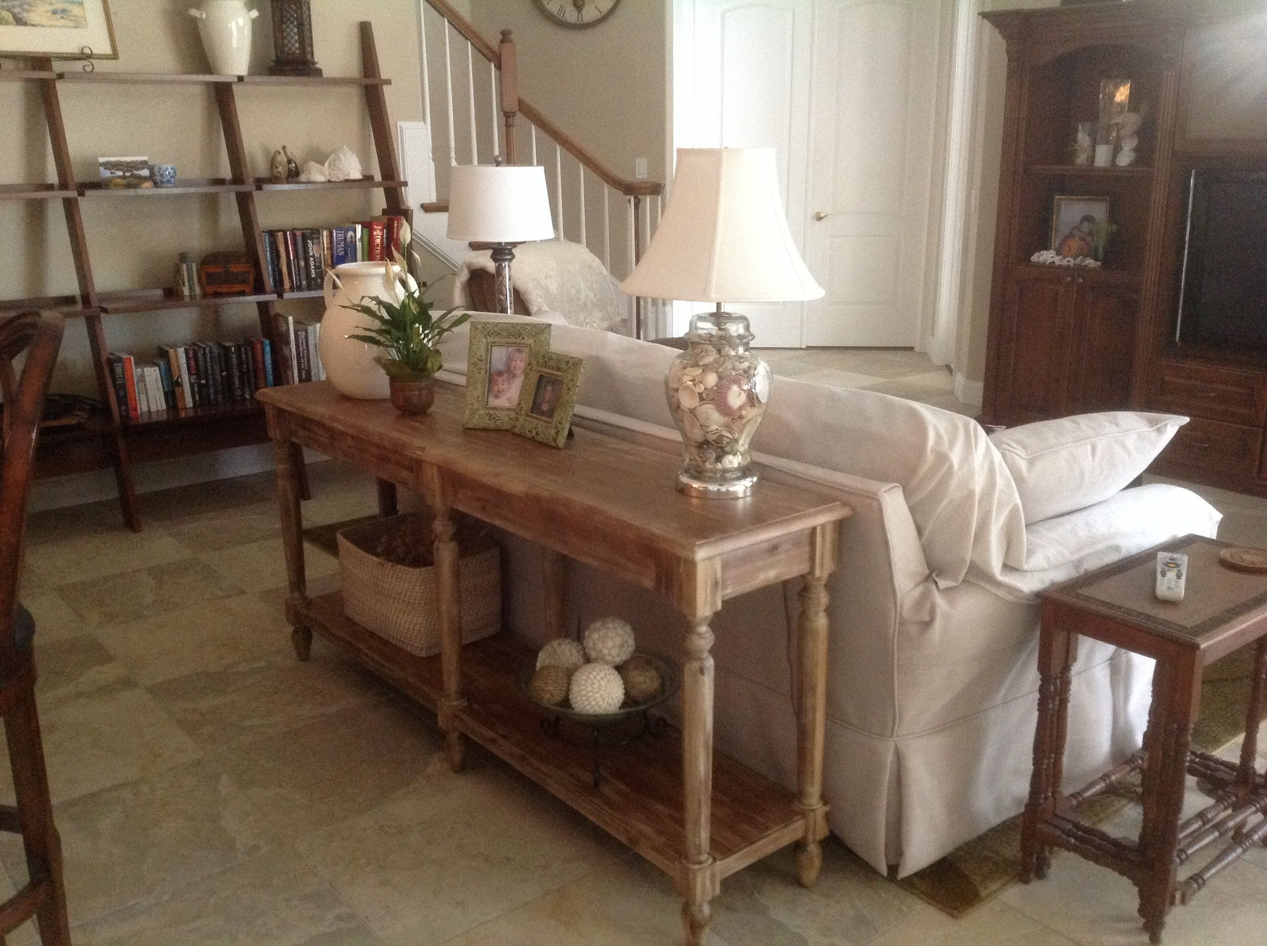 Farmhouse Foyer Table Decor : World market everett foyer table love it very solid with