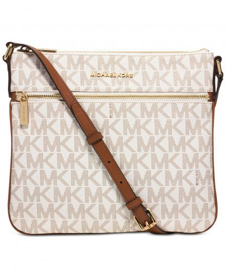 michael kors bedford signature flat cross body bag vanilla 32h5g rh pinterest co uk