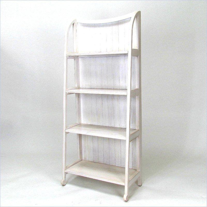 Wayborn Bwood Display Stand Whitewash Bookcase
