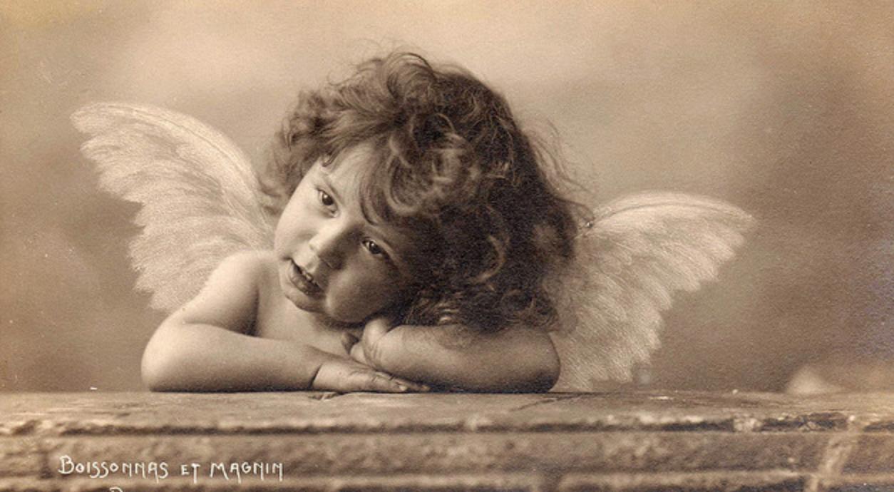 Открытка пенсия, винтажные картинки ангел