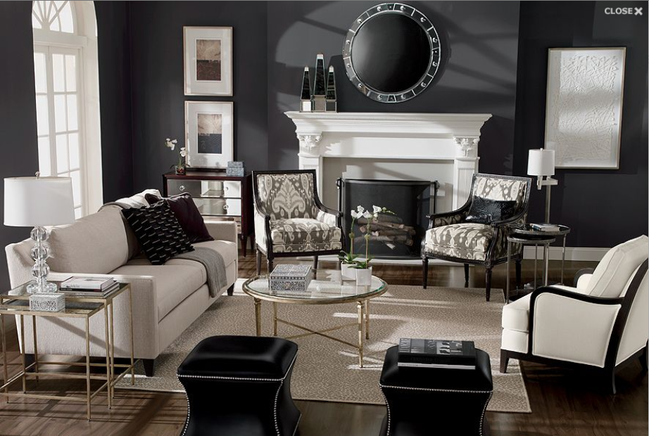 pin by hot mess mom life on home living room home decor on beautiful modern black white living room inspired id=79249