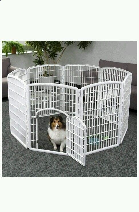 Dog Playpen Pets Gate Fence Indoor Outdoor Kennel House Portable  Housebreaking