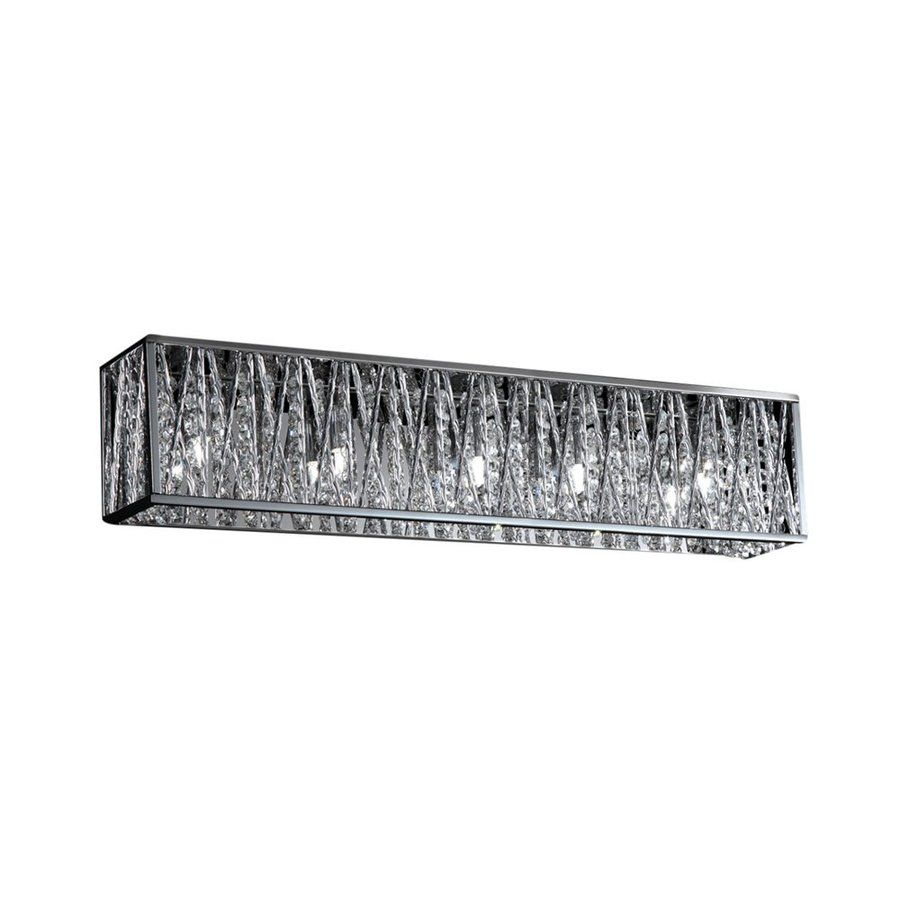 Shop ZLite Light Mirach Chrome Crystal Accent Bathroom Vanity - Chrome 5 light bathroom fixture