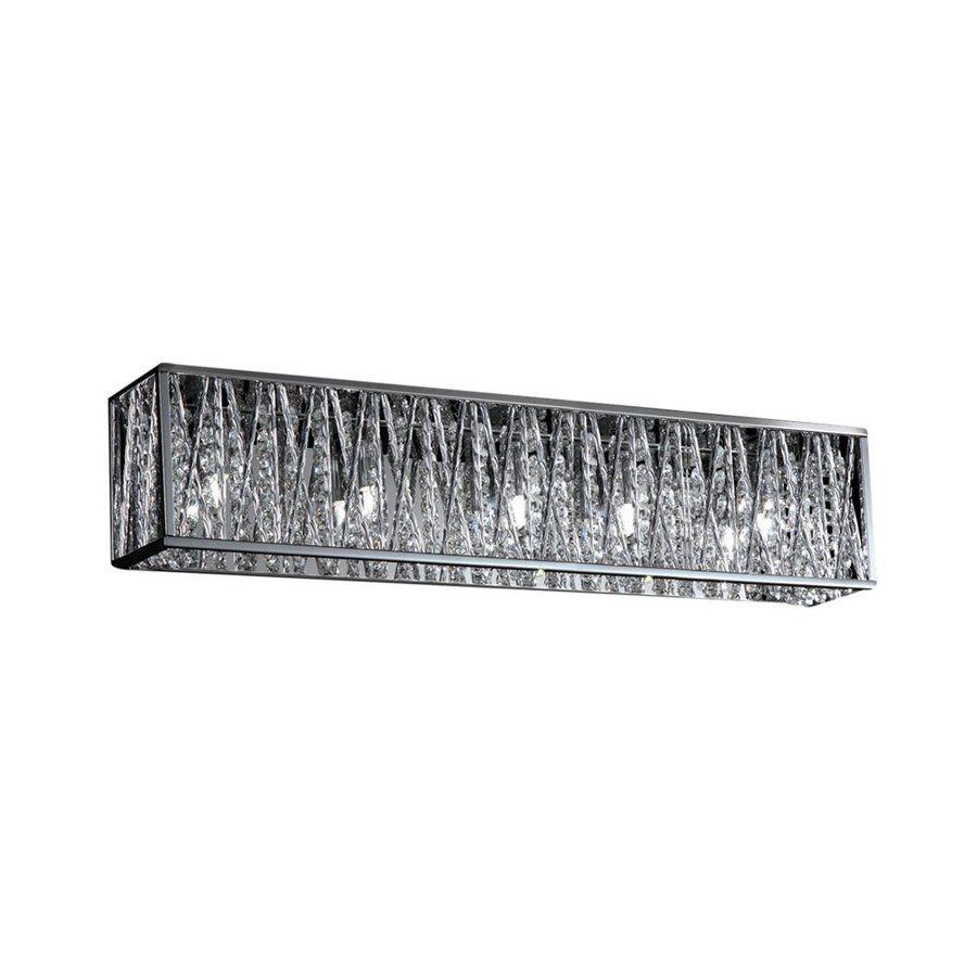 Shop Zlite 5Light Mirach Chrome Crystal Accent Bathroom Vanity Delectable Crystal Vanity Lights For Bathroom 2018