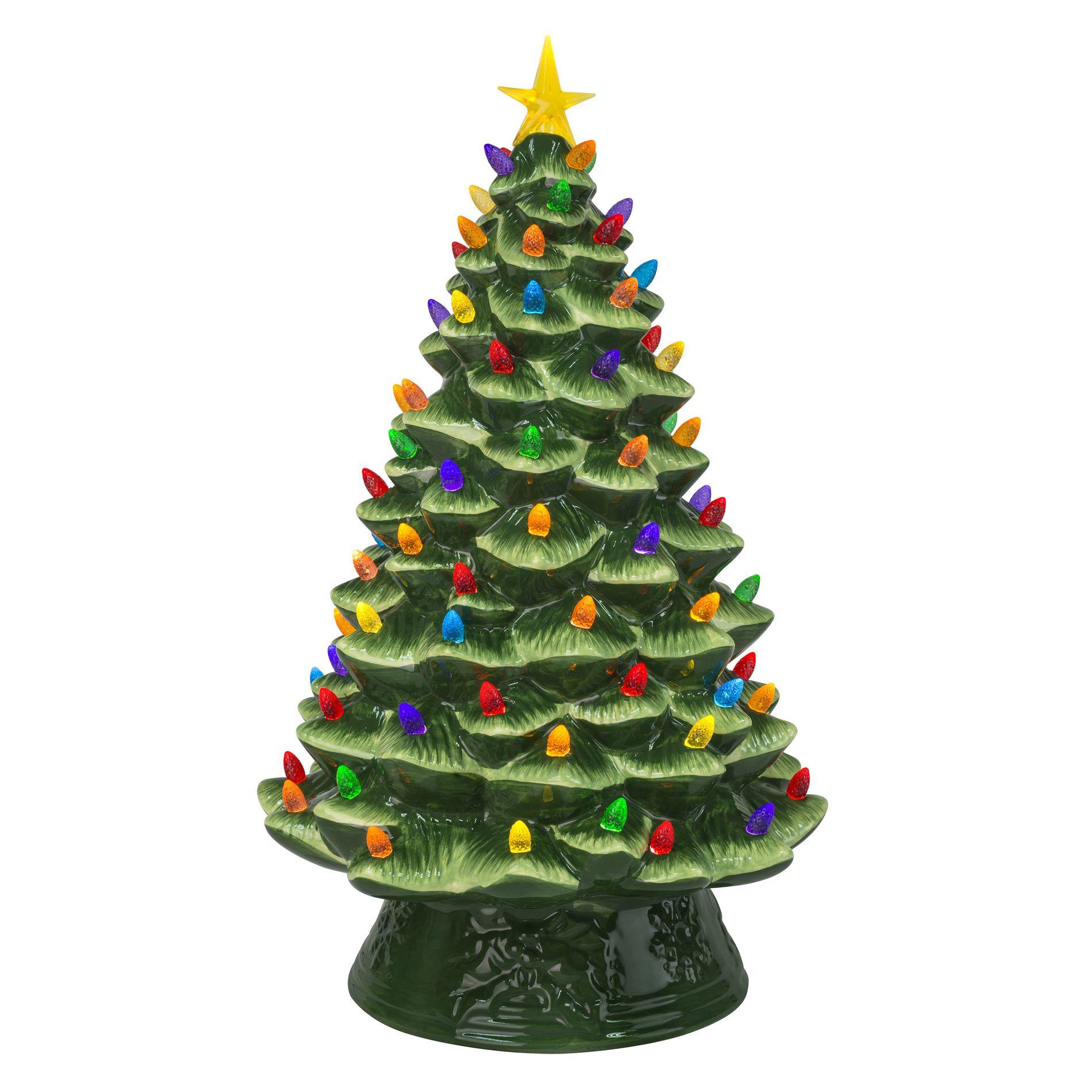 Mr Christmas 18 Nostalgic Tree Ceramic Christmas Trees Christmas Tree Bedding Tabletop Christmas Tree