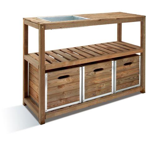 Table de préparation CHOKO | 129 x 45 x 90 cm - 100928