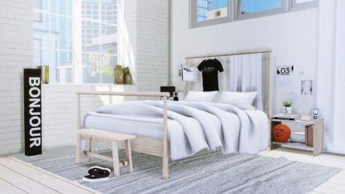 Mxims Gjora Bedroom For The Sims 4 Sypialnia Meble I
