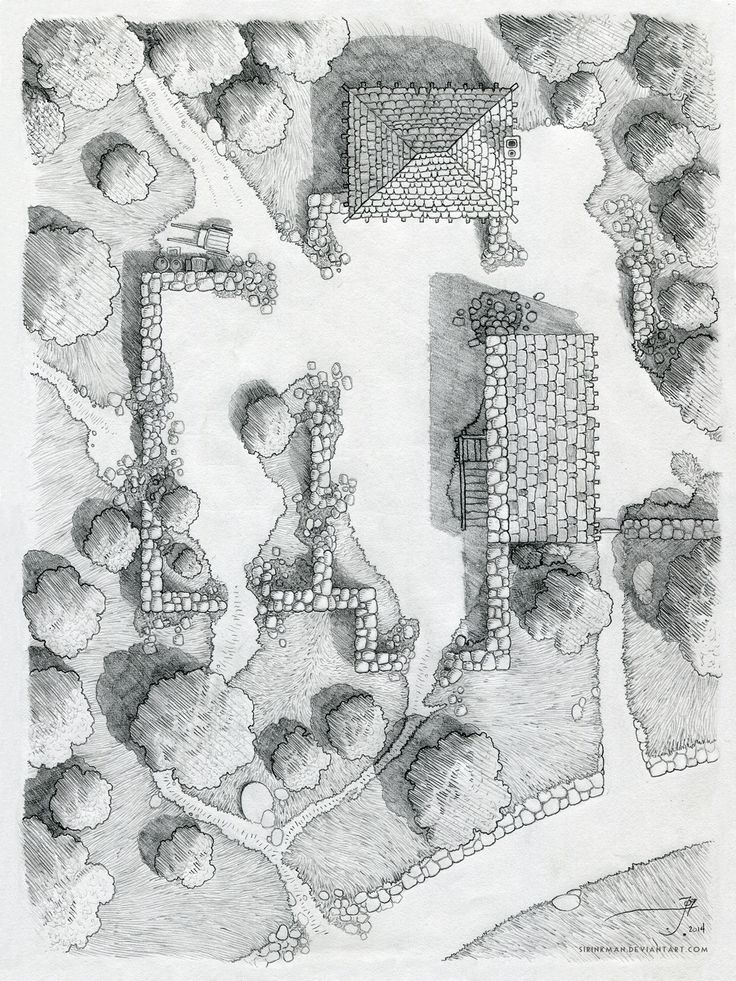 Barrowmaze pdf recherche google dd maps pinterest fantasy map pencil on x 10 inch moleskin sketchbook encounter map drawing of a small ruined castle near cragford in the old fog mountains on the world of luma gumiabroncs Choice Image
