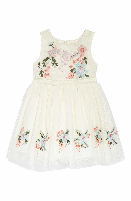 ff9f9fbb2 Main Image - Nanette Lepore Flower Embroidered Party Dress (Toddler Girls & Little  Girls)