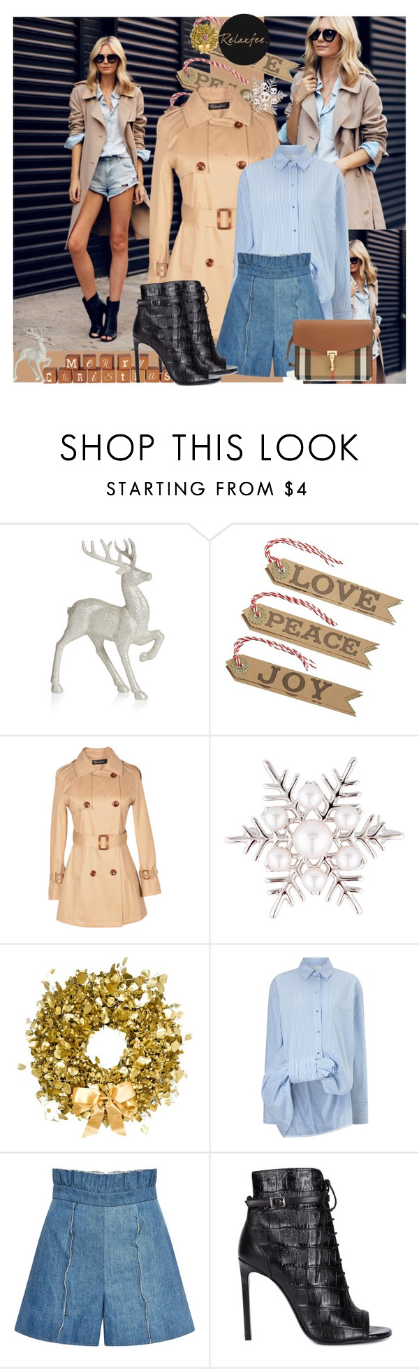 """""""FEATURED OUTFIT BY RELAXFEEL"""" by relaxfeel on Polyvore featuring Disney, Relaxfeel, Mikimoto, Philippa Craddock, Victoria, Victoria Beckham, Kalmanovich, Yves Saint Laurent and Burberry"""