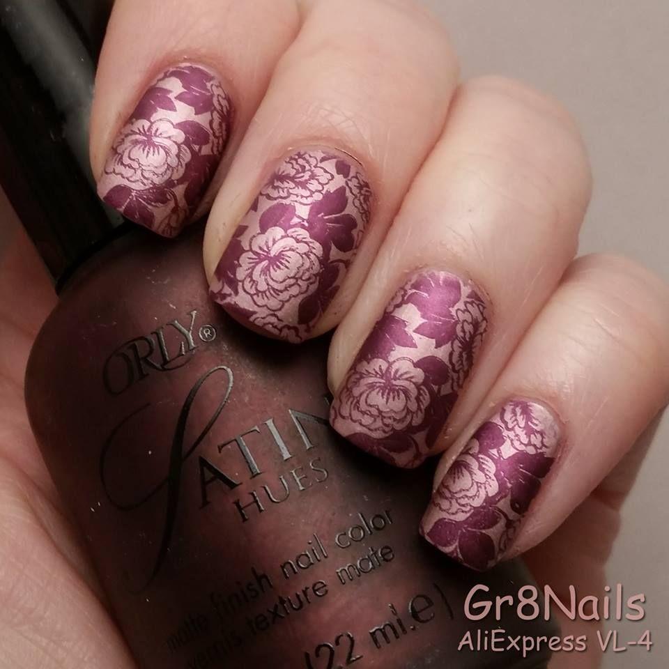 Nail art using stamping plate VL-4 from AliExpress   Nails ...