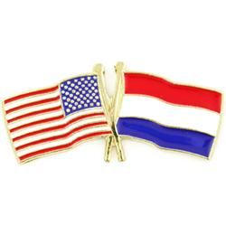 Dutch And American Crossed Flag Pins Or Friendship Pins For My