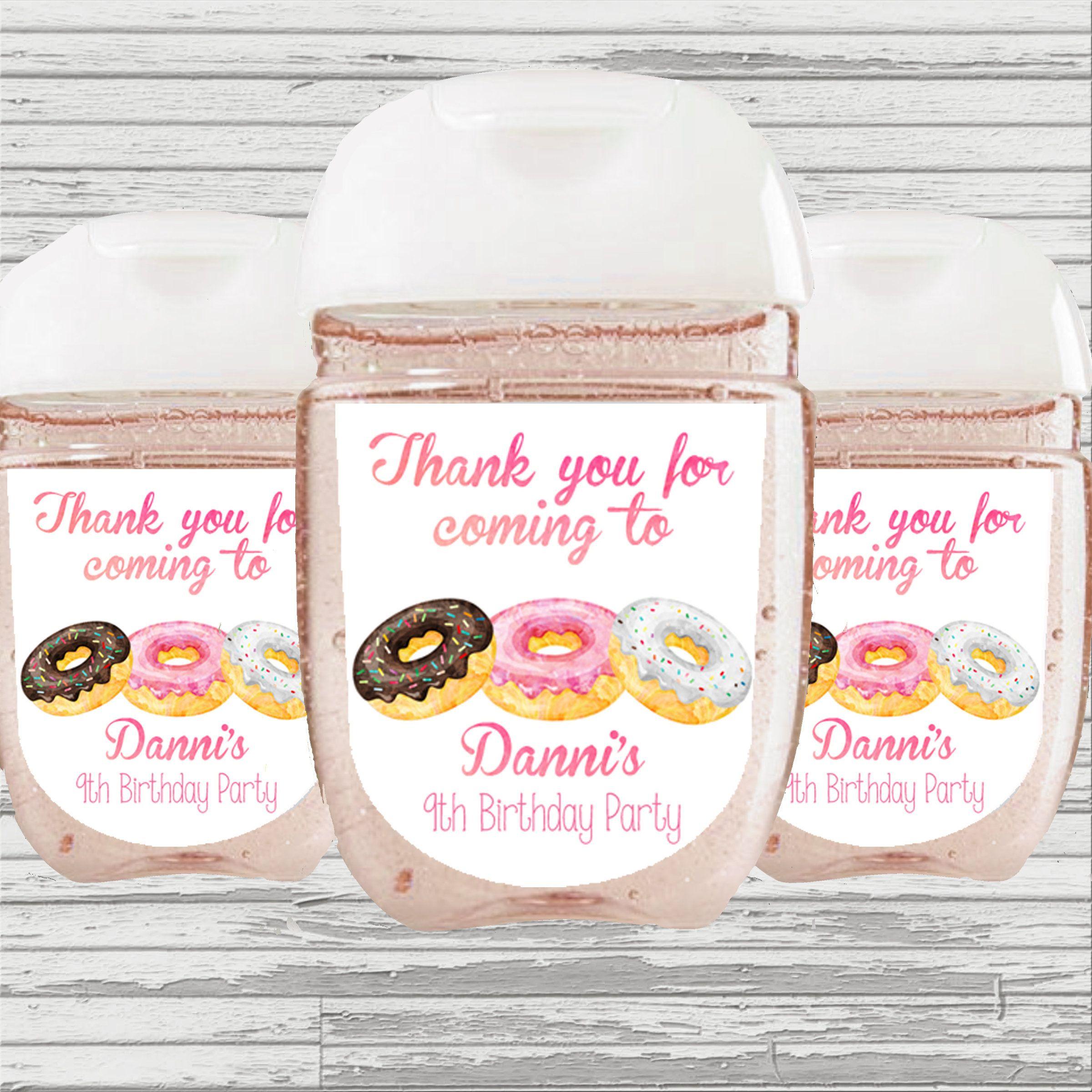 Donut Hand Sanitizer Favor Donut Baby Shower Favor Donut Baby