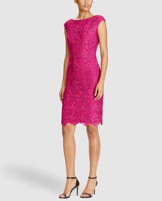 Vestido de fiesta de mujer Lauren Ralph Lauren en color fucsia | My ...