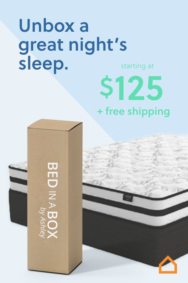 Unbox A Great Night S Sleep With Ashley S Bed In A Box Mattress Starting At Only 125 Simply Bring It To Your Room Remove The Plastic Wr Mattress Box Bed Bed