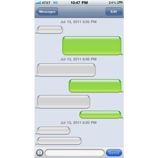 Photos of Blank Text Message From IPhone ❤ liked on