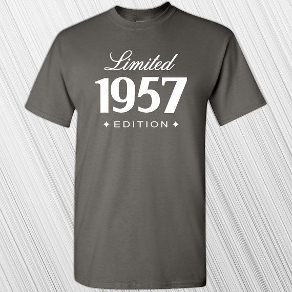 60th Birthday Gift 1957 Limited Edition T Shirt Mens