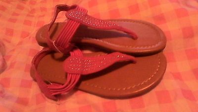 Toddler 12  Sandals Avon Pink Jewel Flip Flop Kids Shoes children foot NEW Girls