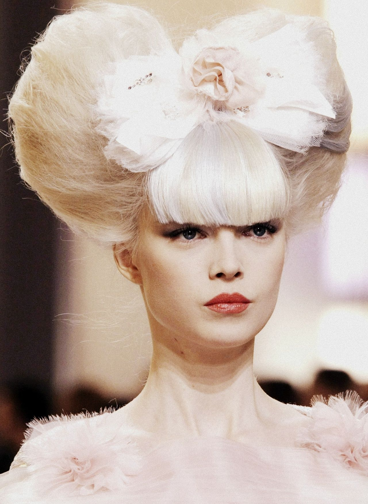 Big and beautiful hair atChanel Haute Couture SS 2010