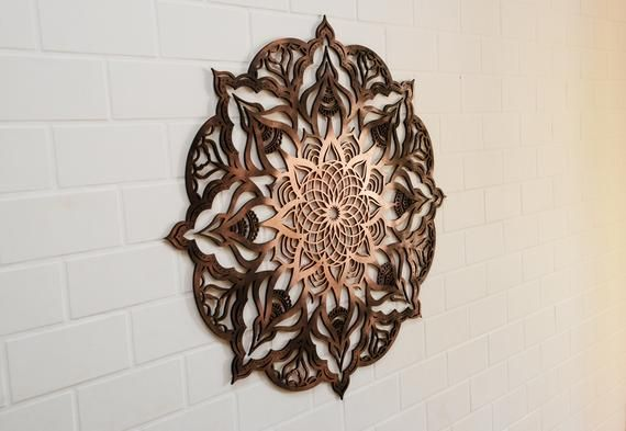 Wall Hanging, Wood Art Decor, Mandala, Wood Decor, Boho Home Decor, Living Room Wall Hanging, Boho Bedroom Decor, Meditation Art, Yoga Gift is part of Boho bedroom Art - ToharWoodDesign