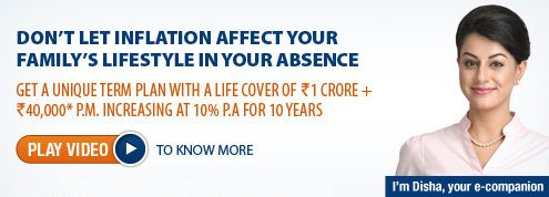 This is where Max Life Online Term Plan with Sum Assured Plus Increasing Monthly Income Death Benefit Option could come in handy. For more details, check @ http://goo.gl/SQUnsN