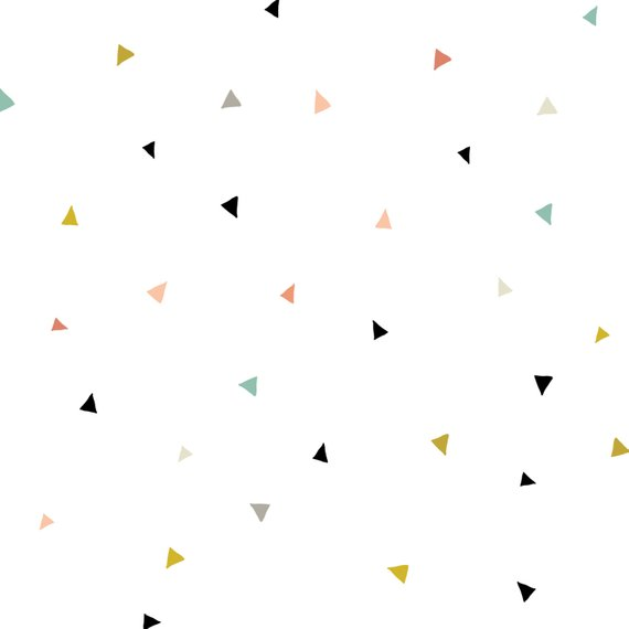 Fun Tiny Confetti Triangles - WALL DECAL   Products in 2019