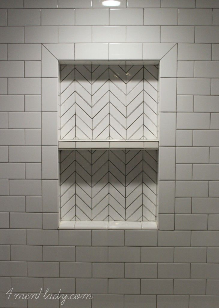 Basement Bathroom Reveal Subway Tile Paterns Pinterest
