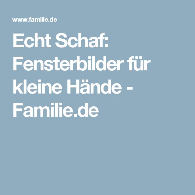 Echt Schaf: Fensterbilder für kleine Hände - Familie.de