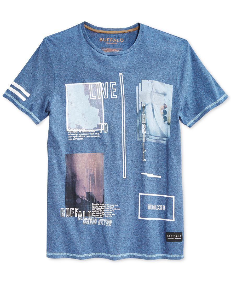 Buffalo David Bitton Nifly Graphic-Print Logo T-Shirt