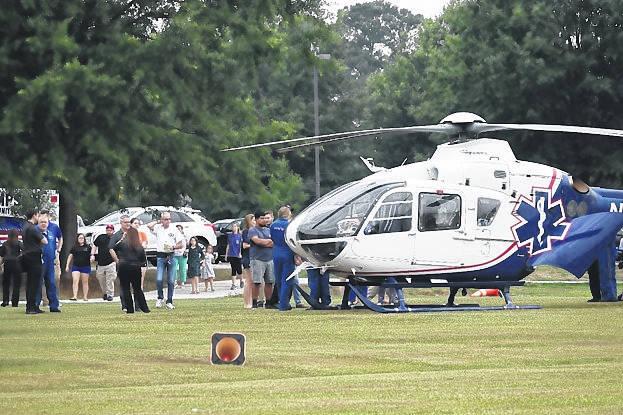 Duke Life Flight lands at Sampson's hot spot Life flight