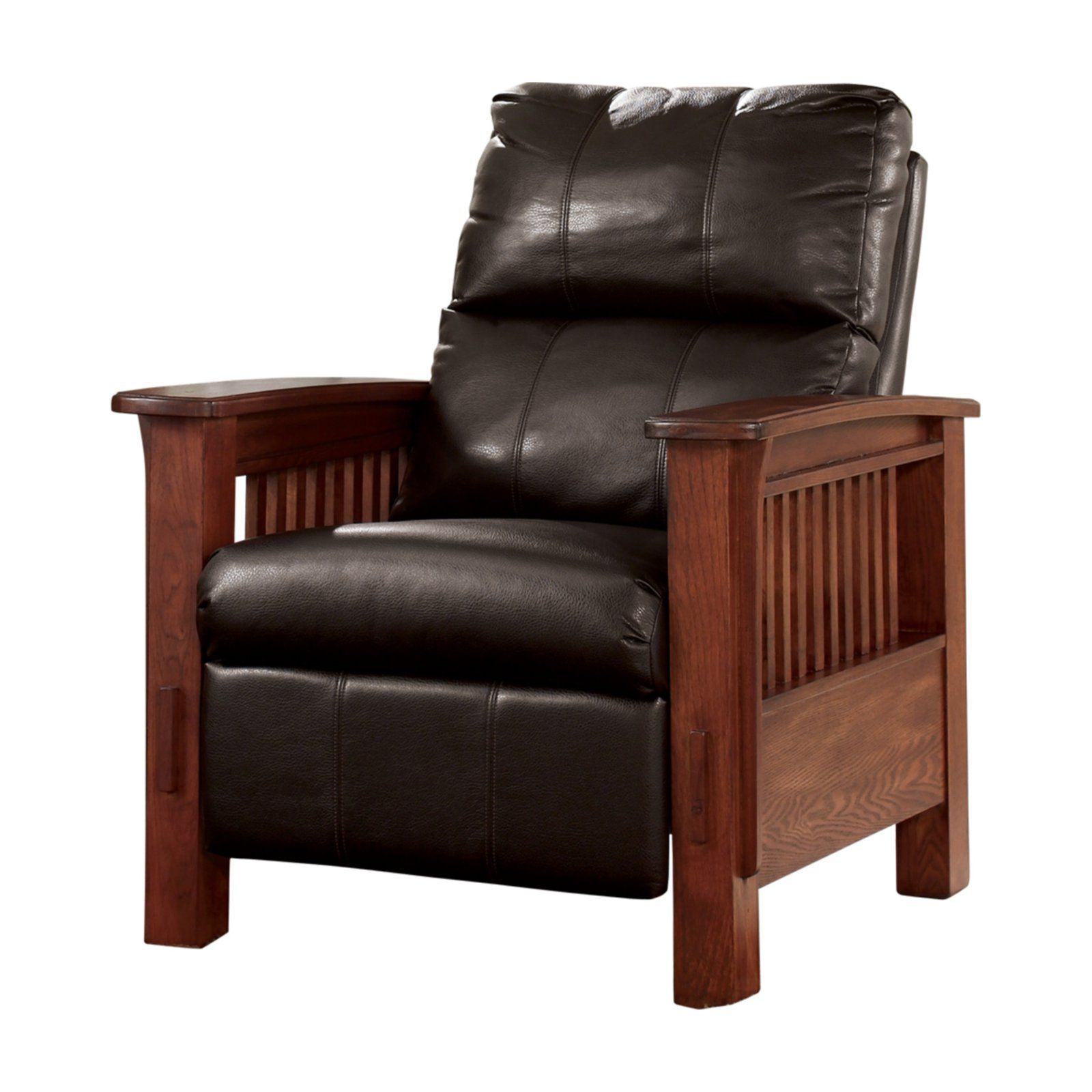 Signature Design By Ashley Santa Fe Mission Recliner Chocolate Recliner Cheap Office Chairs Leather Recliner