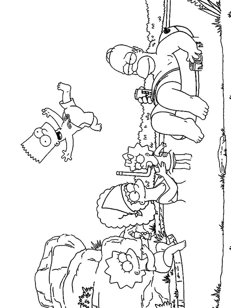 Free Coloring Pages Of The Simpsons, Download Free Clip Art, Free ...   1000x750