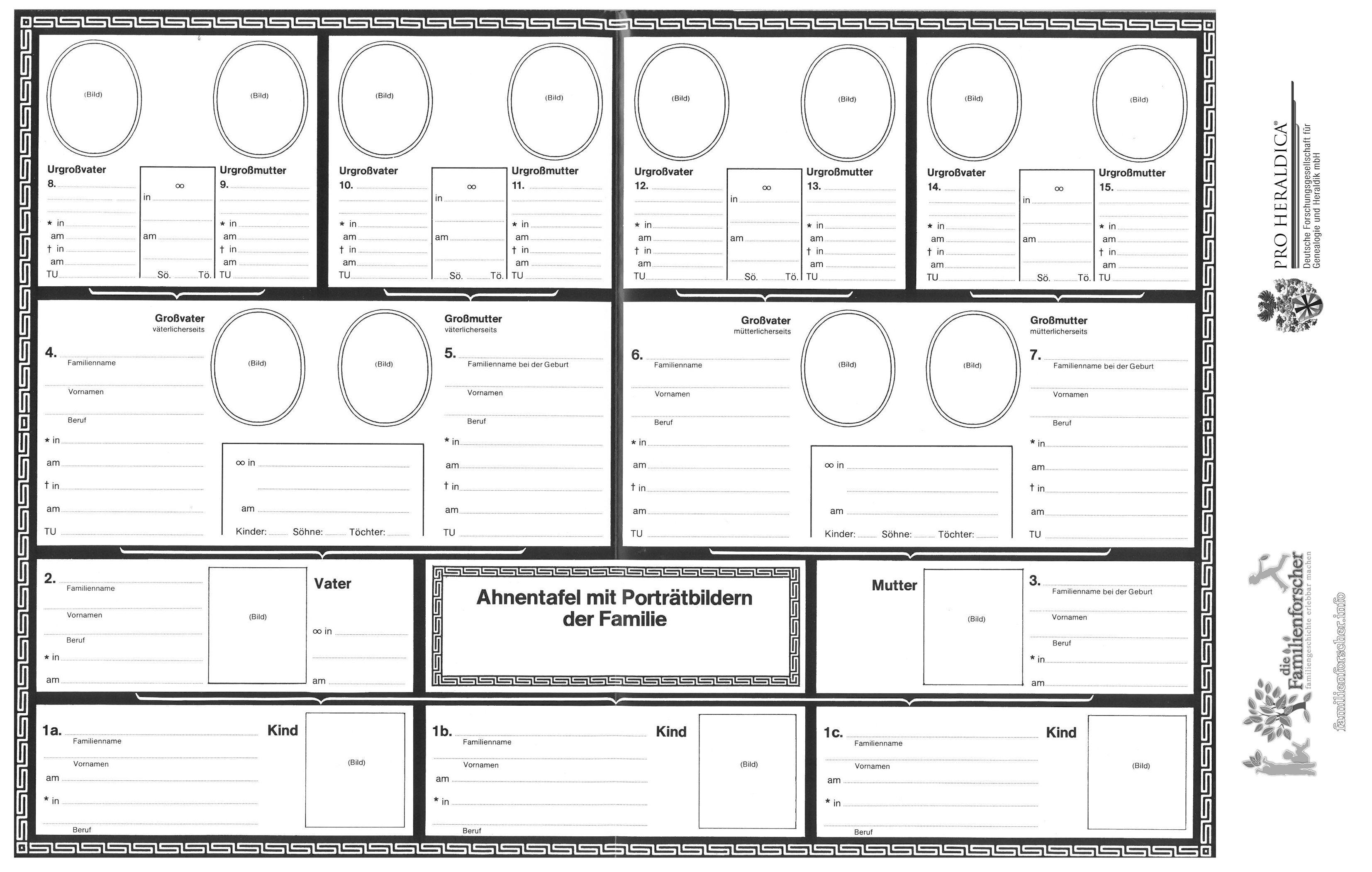 Vorlagen Fur Ahnentafel Stammbaum Ausmalbilder Ratsel Alte Schrift Ahnenforschung Kinder Jugendliche Schu Stammbaum Vorlage Familienforschung Stammbaum
