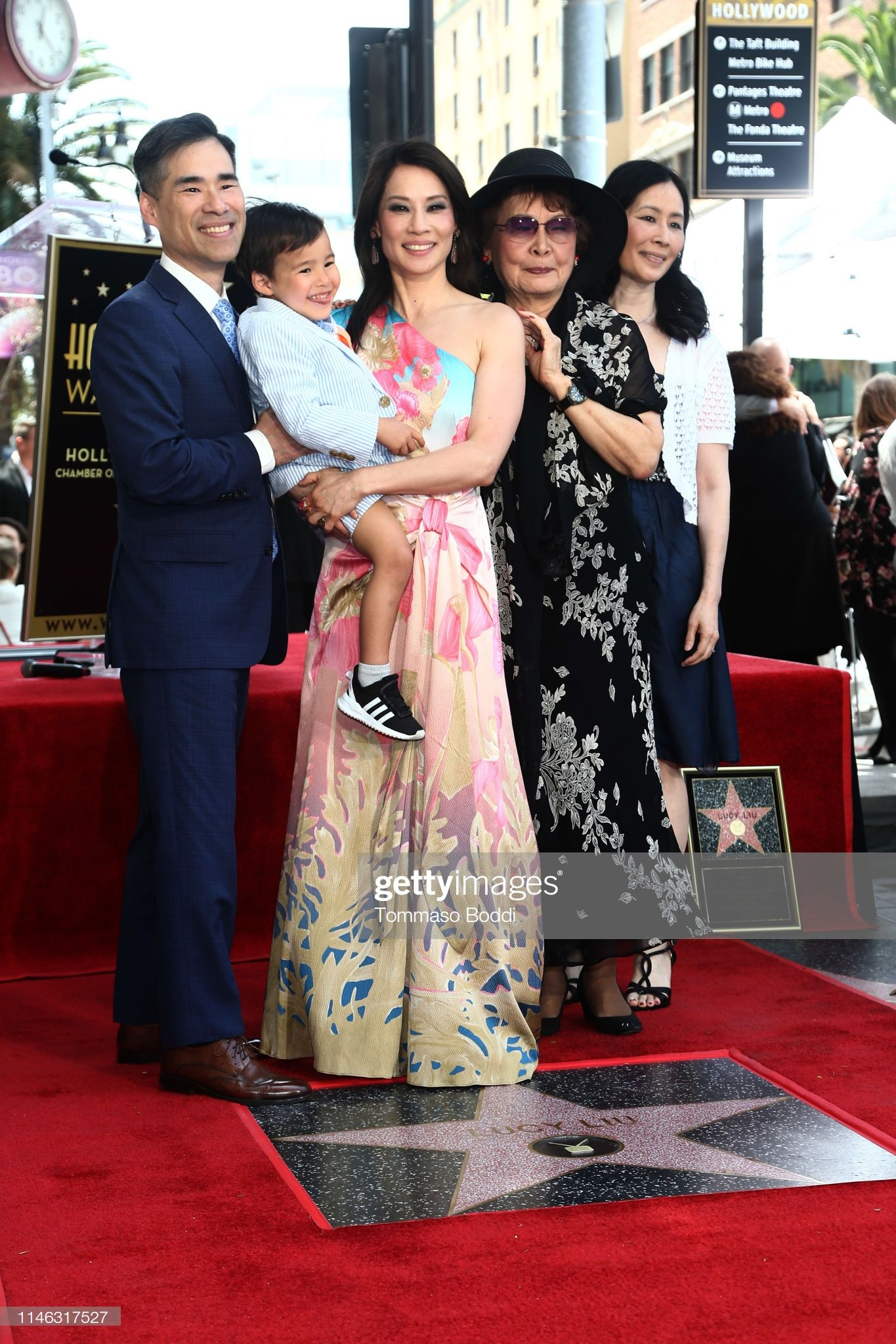 Lucy Liu And Family Attend A Ceremony Honoring Lucy Liu With Star On The Hollywood Walk Of Fame On Lucy Liu Hollywood Walk Of Fame Hollywood Walk Of Fame Star