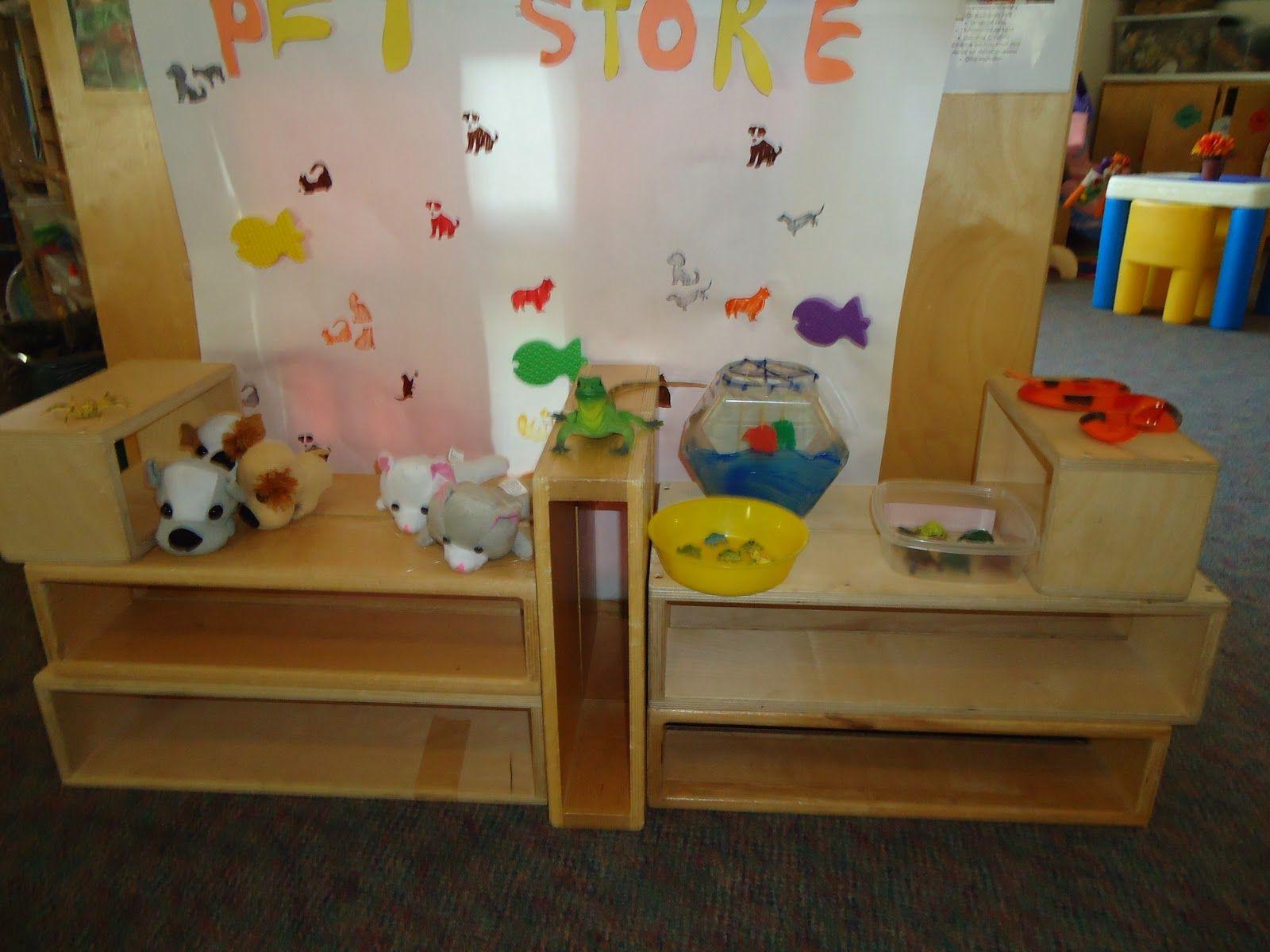 Classroom Pet Ideas ~ Preschool dramatic center ideas pet week play in pre k
