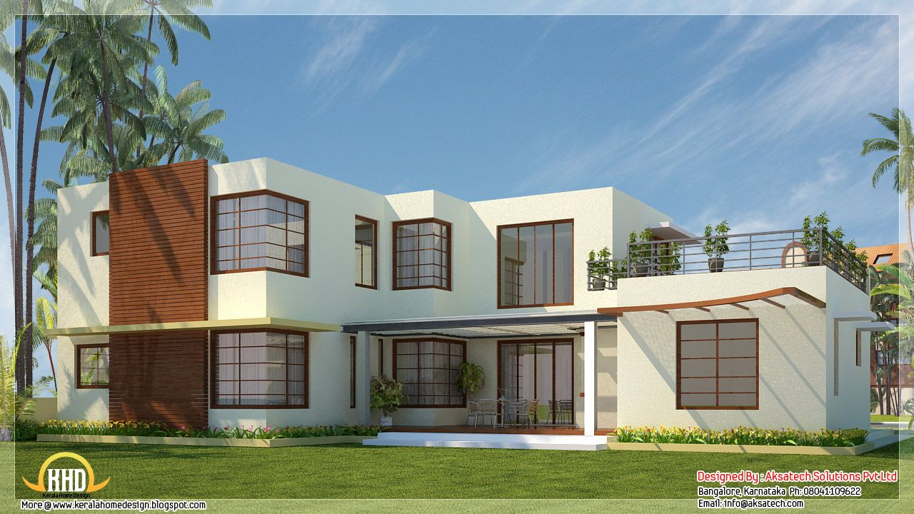 Wonderful Beautiful 3 -bed Contemporary Home Part - 6: Beautiful Contemporary Home Designs - Kerala Home Design And Floor