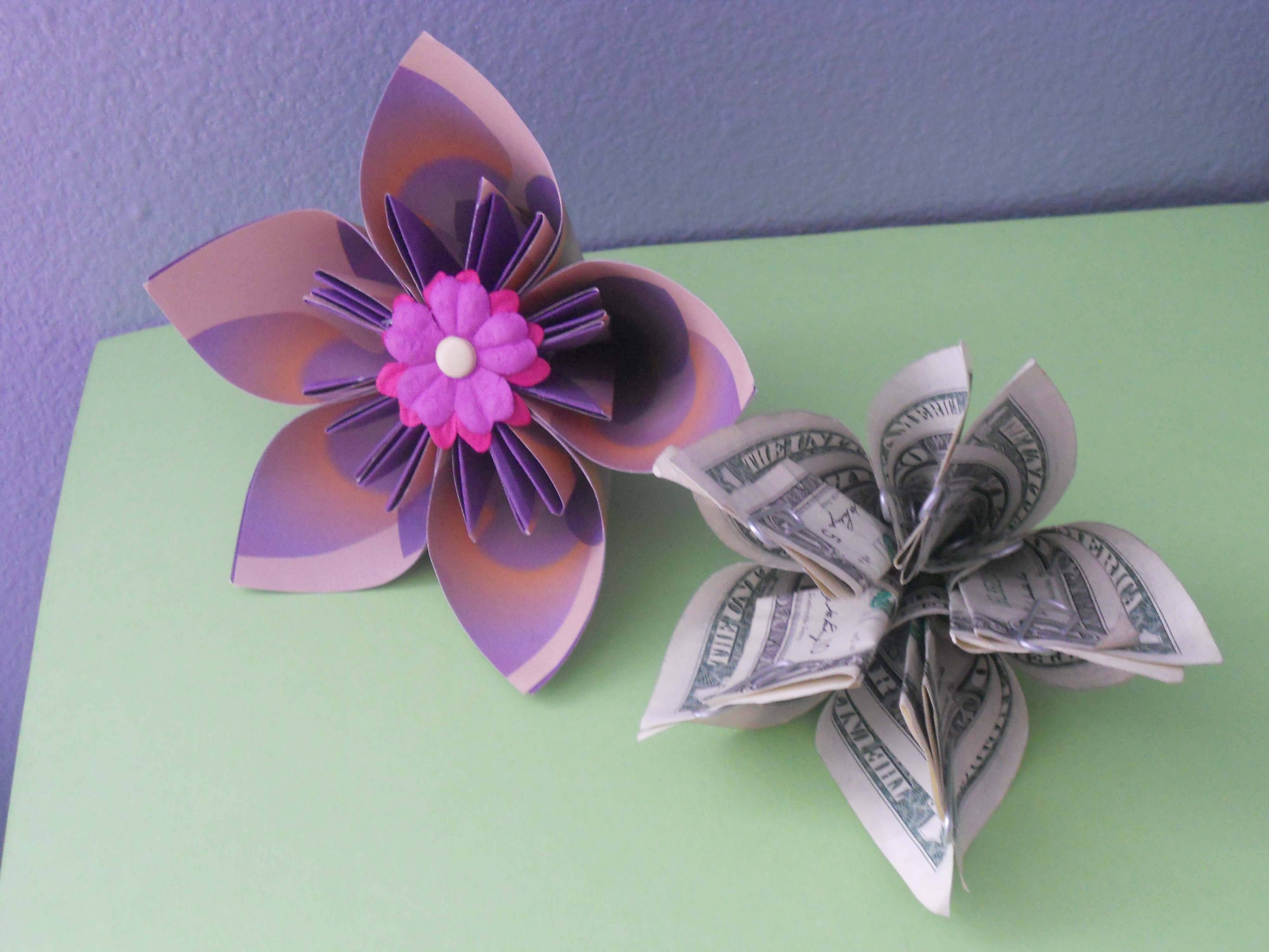 7 steps to a pretty money origami kusudama flower pinterest how to make a money origami kusudama flower mightylinksfo