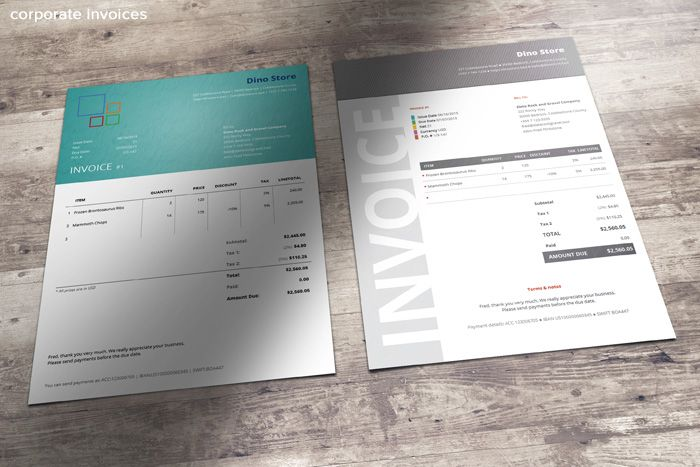 CorporateInvoiceTemplates PRINT DESIGN Pinterest - Corporate invoice template