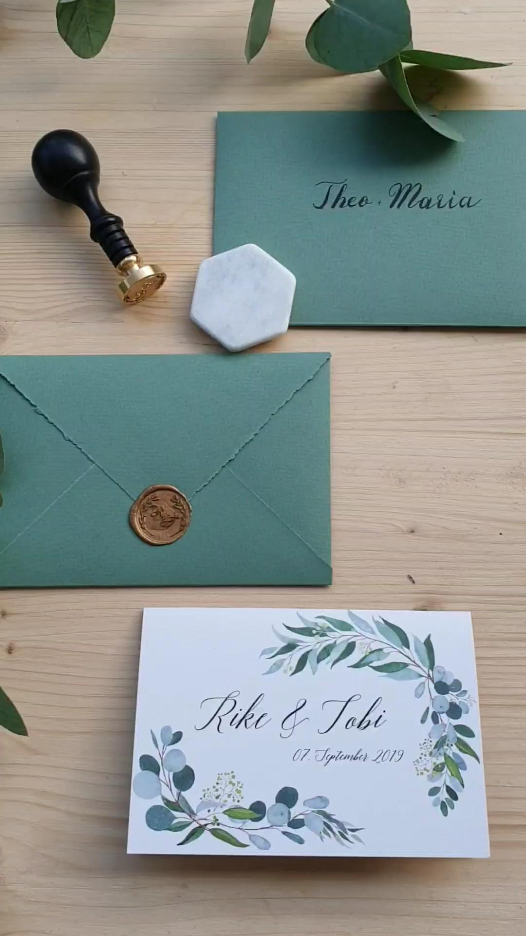 DIY Hochzeitseinladungen mit Eukalyptus und Wachssiegel – DIY Hochzeit