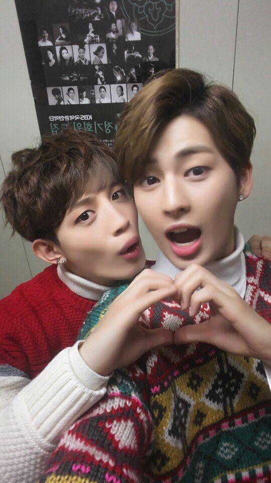 Jinhoo and Kogyeol being cute as heck