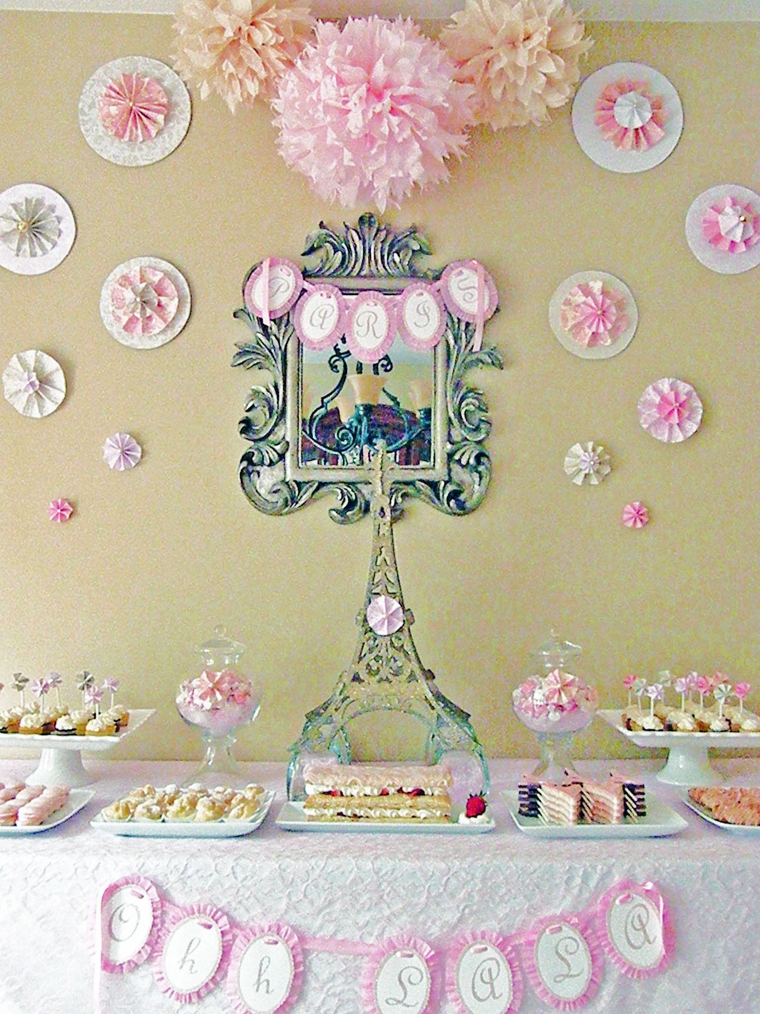 HandCrafted Party Paris in Spring Birthday party themes Food