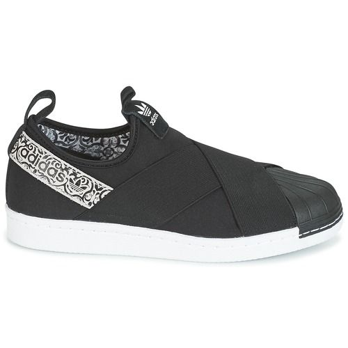 new arrivals 8330e 33279 Scarpe Donna Sneakers basse adidas Originals SUPERSTAR SlipON W Nero    Bianco