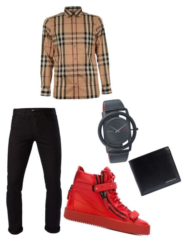 """""""Untitled #8"""" by wv170 on Polyvore featuring Giuseppe Zanotti, Burberry, 3x1, men's fashion and menswear"""