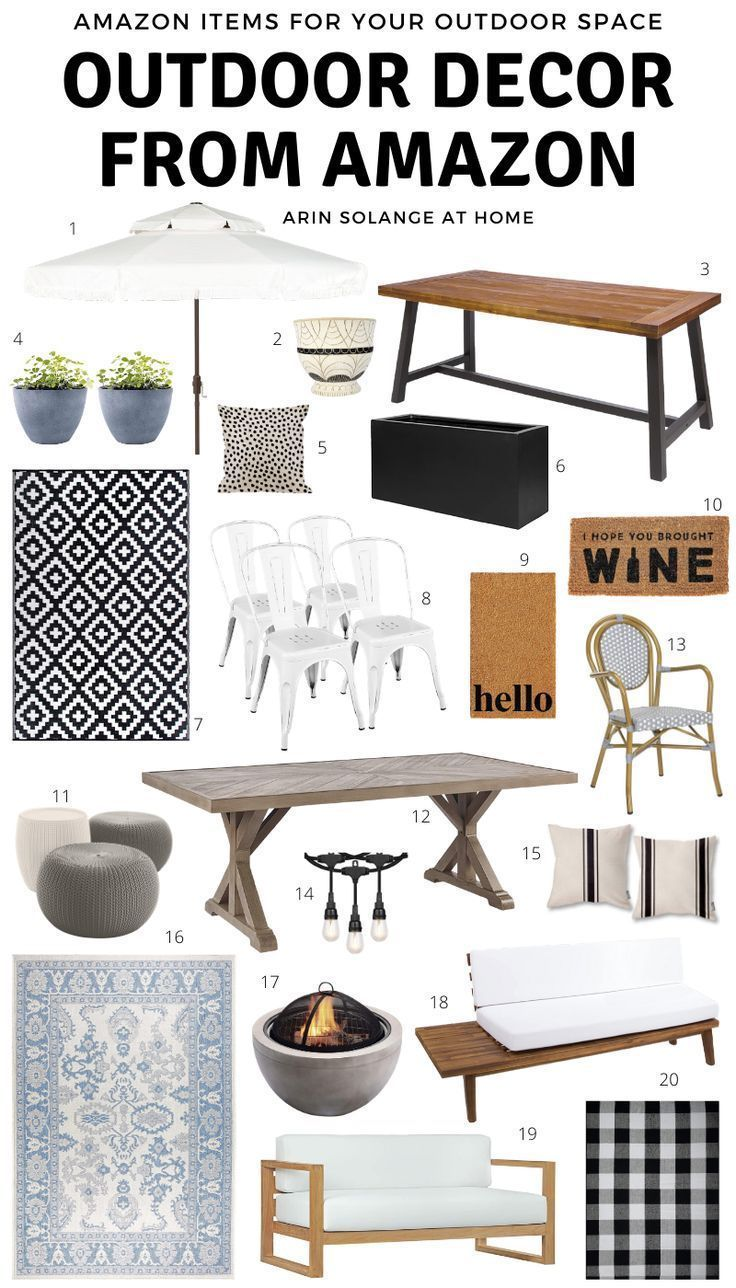 Are you looking for some great, unique, and affordable outdoor furniture and decor check out this post for all things from Amazon! #amazonhome #amazonfinds #amazondecor