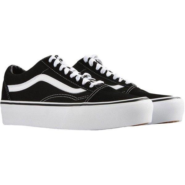 VANS UA OLD SKOOL PLATFORM Sneakers (347.555 COP) ❤ liked on Polyvore featuring shoes, sneakers, vans sneakers, vans shoes, vans footwear, platform trainers and platform sneakers