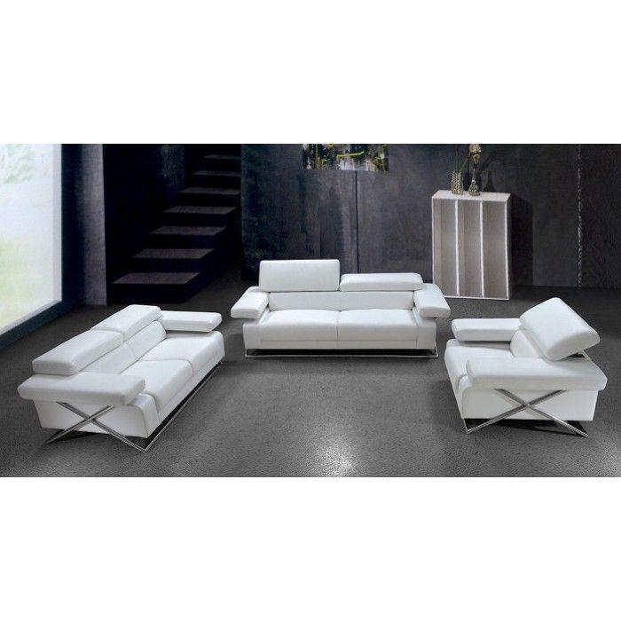 Linx Modern White Leather Sofa Set White Leather Sofas White Leather Sofa Set Modern White Leather Sofa